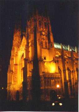 Canterbury at night.
