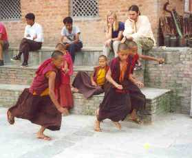 Recess for monks in training.jpg (10294 bytes)