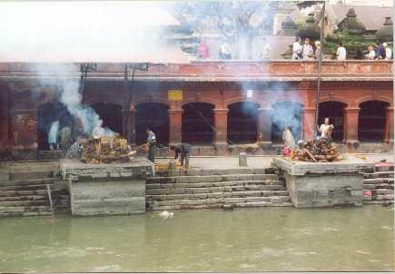 Hindu cremation ceremony.
