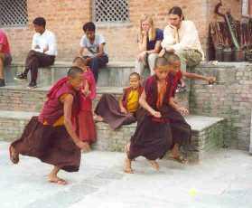 Recess for monks in training.jpg (10294 bytes)