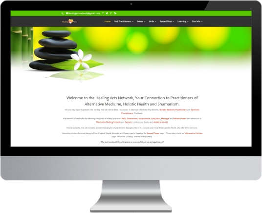 Healing Arts Network Website Design for Therapists